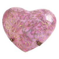Pink Cloisonne Heart Urn