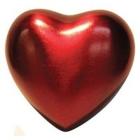 Ruby Red Heart Urn
