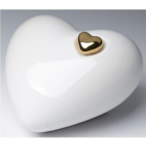 White Porcelain Heart Urn