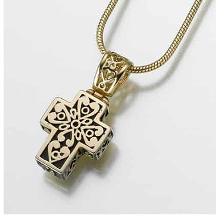 Filigree Cross Gold Vermeil Pendant