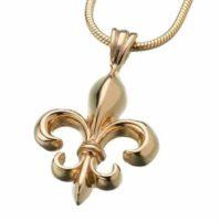 Fleur De Lis Gold Cremation Necklace
