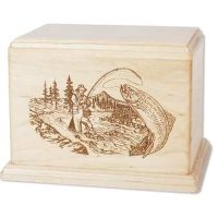 Trout Fishing Urn Newport Maple