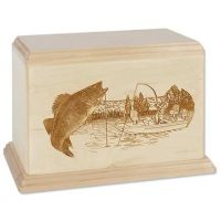 Walleye Newport Fishing Urn Maple