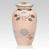 Peach Floral Urn