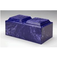Cobalt Marble Urn for Two