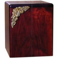 Roses Vertical Rosewood Urn for Two