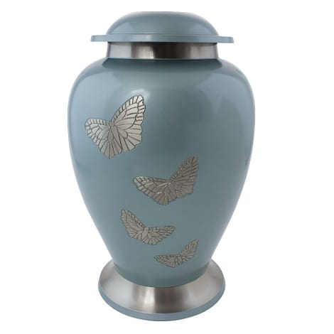 Avon Light Blue Butterfly Urn