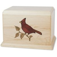 Cardinal Maple Urn for Two