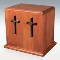 Cherry Double Crosses Urn for Two