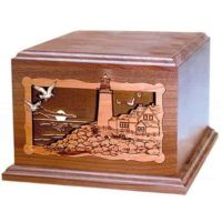 Walnut Lighthouse Companion Urn