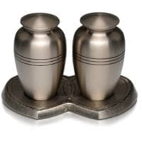 Classic Pewter Urns for Two
