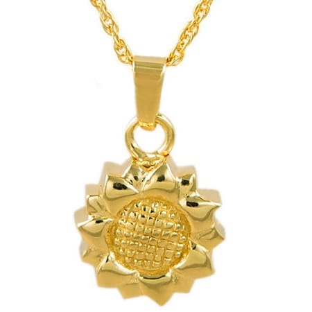 sunflower cremation jewelry