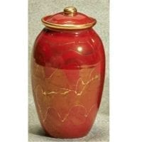 Small Red Inspiration Urn