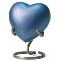 Monterey Heart Urn Blue