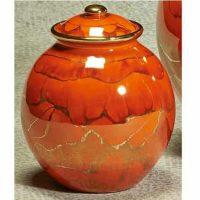 Corona Small Orange Urn