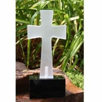 Solar Grave Light Frosted Cross Large in 4 colors