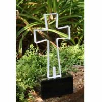 Solar Grave Light Clear Cross Large in 4 colors
