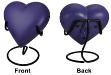 heart urn stand