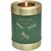 Dragonflies Candle Urn (In 4 Colors)