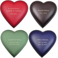 Heart Urn In 4 Colors Small-Medium
