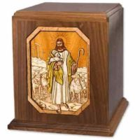 Lord  is My Shepherd Large Walnut Urn