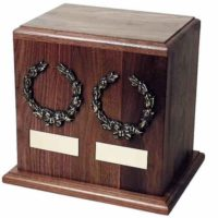 Tudor Wood Urn for Two