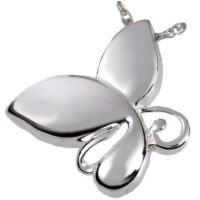 Teardrop Butterfly Ashes Jewelry Pendant