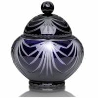 Blue Crystal Large Cremation Urn