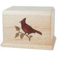 Wood Cardinal Urn Large