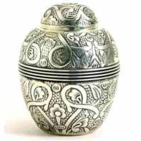 Silver Embossed Small Urns in 2 sizes
