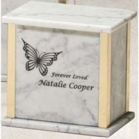 Heavenly Marble Medium Urn