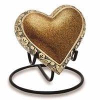 Shires Gold Heart Keepsake Urn