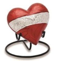 Sorrento Red Keepsake Heart Urn