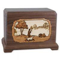 Wood Hunting Urn