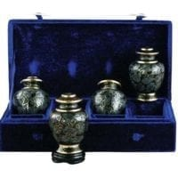 Slate Essence Set of 4 Keepsake Urns