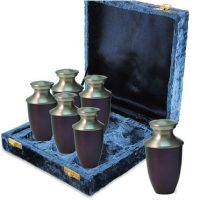 Purple Brass Keepsake Set of 6