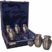 Keepsake 6 Pack Urns Pewter Alvita