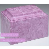 Lily Purple Marble Burial Urn
