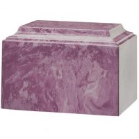 Lily Purple Marble Urn