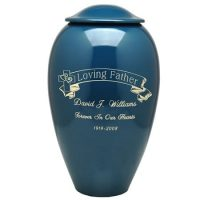 Cross and Scroll Cremation Urn (In 4 Colors)