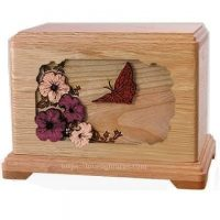Butterfly Oak Urn for Two