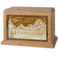 Mountains Majesty Urn for Two Oak