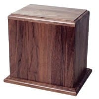 American Walnut Urn for Two