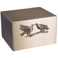 Bronze Love Doves Urn for Two