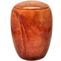 Alabaster Orange Urn