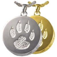 Cat Paw Cremation Necklace