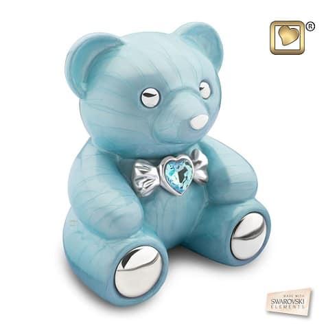 Blue Teddy Bear Urn