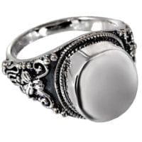 Antique Silver Cremation Ring