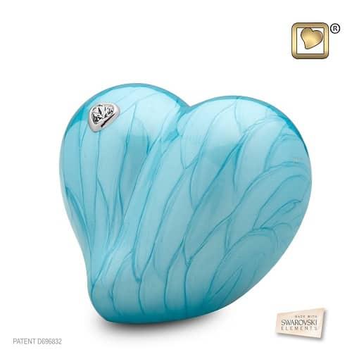 Loving Blue Heart Urn