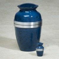 Modern Grecian Blue Urn